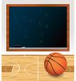 Basketball Chalkboard vector image vector image