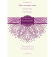 Beautiful purple invitation card vector image