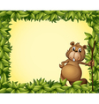 Beaver Photo Frame vector image