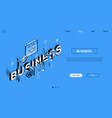 business analytics - line design style isometric vector image vector image