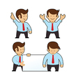 Cartoon Businessman Set vector image vector image