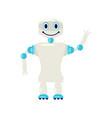 cartoon cute chat bot vector image vector image
