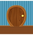 Cartoon Wooden Rounded Door For Home Interior vector image vector image