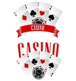 Casino signs or emblems vector image vector image