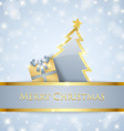 Christmas tree and gift decoration vector image vector image