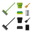 cleaning and service logo vector image vector image