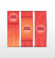 Collection banner design Paper of color vector image vector image