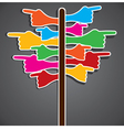 colorful hand pointing different direction vector image