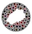 coronavirus stencils circle saint helena island vector image vector image