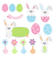 cute easter cartoon on white background vector image vector image