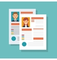 cv document paper isolated icon vector image vector image