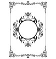 decorative frame and background in vintage style vector image vector image