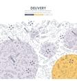 delivery Doodle Website Template Design vector image