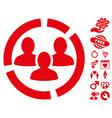 demography diagram icon with dating bonus vector image