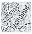 diamond scams Word Cloud Concept vector image vector image