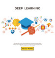 digital deep learning vector image vector image