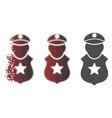 dispersed dot halftone guard man icon vector image vector image