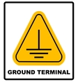 Electrical grounding sign vector image
