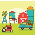 Farm Warehouse Car Agriculture and Industry vector image vector image