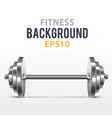 fitness background with metal dumbbell vector image