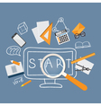 flat office content vector image