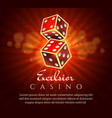gambling dice poster vector image vector image