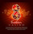 gambling dice poster vector image