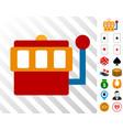 gaming machine icon with bonus vector image