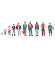 generation and man growing stages isolated male vector image vector image