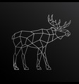 geometric outline elk side view vector image vector image