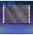 Glass plate with metal frame vector image