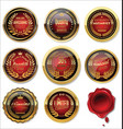 gold and red medal collection vector image