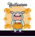 halloween kid cartoon vector image vector image