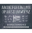 Hand drawing alphabet vector image