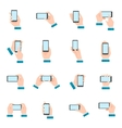 Hand With Phone Icons vector image vector image