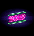 happy new year 2019 in colorful trend vector image vector image