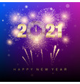 happy new year 2021 new years banner with golden vector image vector image