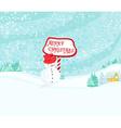 Happy snowman card vector image vector image