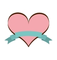 heart pink love icon vector image vector image