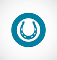 Horseshoe icon bold blue circle border vector image vector image