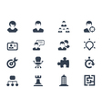 Human resource icons vector image vector image