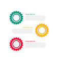 infographic theme design with gear symbols vector image