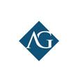 initial ag rhombus logo design