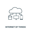 internet of things icon thin line style industry vector image vector image