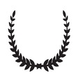 Laurel Wreath icon2 vector image vector image
