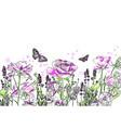 lavender rose flower card background purple vector image