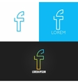 letter F logo alphabet design icon set background vector image vector image