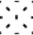 litter waste bin pattern seamless black vector image vector image
