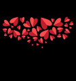 lovely with red hearts vector image