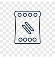 macaroni concept linear icon isolated on vector image
